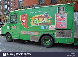 Morelo's Mexican Food Truck Parked Off Bedford Avenue In Stock Photo ...