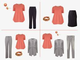 Wear Coral And Navy Together Grey
