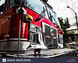 Firetruck At A Fire Station Stock Photo: 212067520 - Alamy