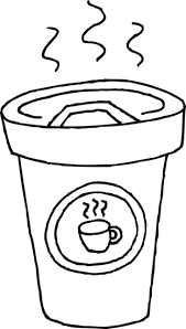Clip Freeuse Stock Cup Of Coffee Coloring Page Free