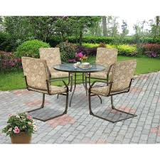 Walmart Patio Dining Chair Cushions by Mainstays Spring Creek 5 Piece C Spring Patio Dining Set Seats 4