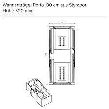 ottofond rechteckbadewanne porta pergamon duschmeister de