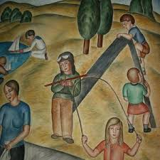 Coit Tower Murals Controversy by Coit Tower Murals San Francisco Ca Living New Deal