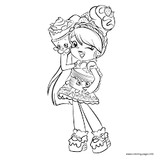 Printable Cute Girl Shopkins Shoppies Coloring Pages