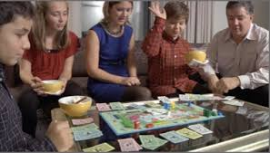Playing Board Games With The Family
