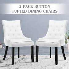 Details About Set Of 2 Elegant Tufted Design Fabric Dining Chairs  Upholstered Wood Legs White Atemraubend Nailhead Ding Room Chair Grey Tufted Covers Astonishing Chrome Chairs Set Of 4 Likable Table Clairborne Gray Of 2 Upc 08165579 Dorel Home Furnishings Amazoncom Bsd National Supplies Horizon Round Button Inspired Lachlan Velvet Or Linen Trim Details About Velvetpu Leather Modern Finish White With Upholstered Seats Bcp Elegant Design Contemporary Fniture American Eagle Ckh168w Pu Kitchen Teal Wood For Sale