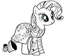 My Little Pony Coloring Pages Rarity Baby