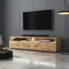 tv board rednaw tv schrank stehend hängend 2 schubladen opt mit led 140 cm ebay