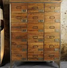 fice Apothecary Cabinet Chest Drawers Tall Vintage