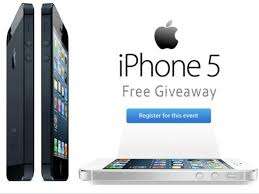 5 Giveaway Get the iPhone 5 FOR FREE