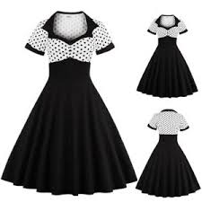 Image Is Loading UK Women 039 S Vintage 1950s Polka Dot