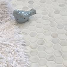 Faux Marble Hexagon Floor Tile by Mosaic Tiles Walls And Floors