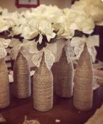 Gorgeous Rustic DIY Wine Bottle Wedding Centerpiece