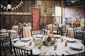 Rustic Wedding Round Table Settings