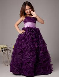 flower dresses purple flower dress girls pageant ball