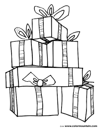 Christmas Presents Coloring Pages Page Present Gift Archives Best Line Drawings