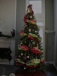6ft Slim Christmas Tree by How To Decorate The Perfect Christmas Tree Using Wide Ribbon