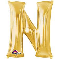 Extra Large Gold Foil Balloon Letter N Hobbycraft