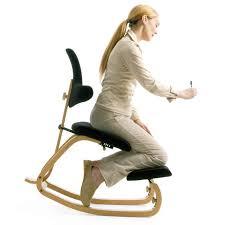 tabouret bureau ergonomique chaise de bureau ergonomique à bascule en tissu et bois thatsit