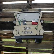 Truck Door Hanger Painted Wood