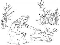 Download Coloring Pages Moses Story Printable For Kids