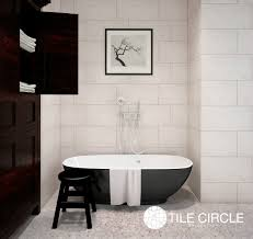 Mother Of Pearl Large Subway Tile by Grey Tiles Lead The Way Tile Circle