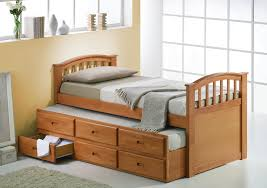 simply wooden bed design and great wooden bedside table even cute