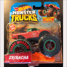 100 Hot Wheels Monster Truck Toys 2019 S Sriracha 4X4 DieCast With Connect And Crash Car 22