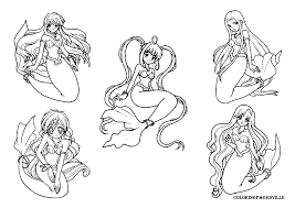 Mermaid Melody Pichi Pitch Coloring Pages