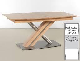säulentisch ataro c 2xl bootsform tisch ausziehbar x form esstisch expendio