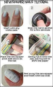 DIY Newspaper Art Nails