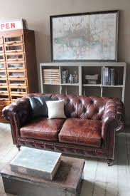 World Market Luxe Sofa Mink by Best 25 Chesterfield Leather Sofa Ideas On Pinterest