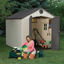 amazon com lifetime 6405 outdoor storage shed with window