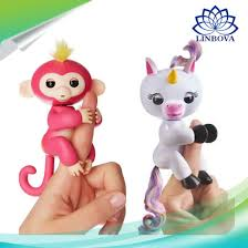 Electronic Smart Touch Finger Kids Toy Baby Monkey Interactive Fingerlings Unicorn