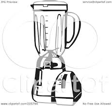 Royalty Free RF Clipart Illustration Of A Black And White Blender By David Rey