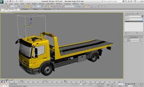 Mercedes Tow Truck 3d Model