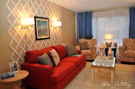 ideas tips charming living room with wallpaper and in wall