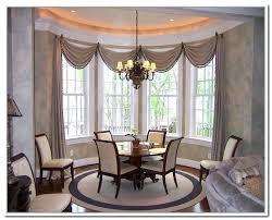 Curtain Ideas For Dining Room Curtains Astonishing Bay Window Drapes