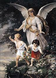 Schutzengel English Guardian Angel By Bernhard Plockhorst Depicts A Watching Over Two Children