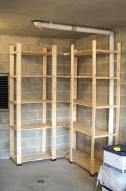 Wood Shelves Diy by Rustic Wood Garage Storage Ideas With Safewooden Shelving Units