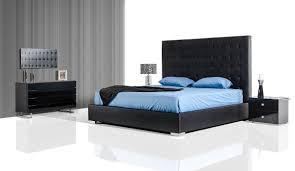 lyrica black leatherette tall headboard bed