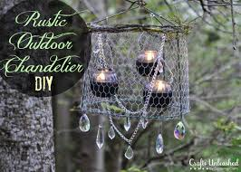 Rustic Outdoor Chandelier Project Country
