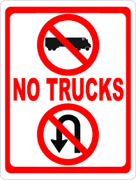 No Trucks No U-Turns Sign – Signs By SalaGraphics This Sign Says Both Dead End And No Thru Trucks Mildlyteresting Fork Lift Sign First Safety Signs Vintage No Trucks Main Clipart Road Signs No Heavy Trucks Day Ross Tagg Design Allowed In Neighborhood Rules Regulations Photo For Allowed Meashots Entry For Heavy Vehicles Prohibitory By Salagraphics Belgian Regulatory Road Stock Illustration Getty Images