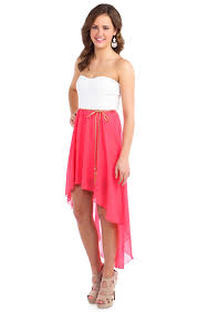 dress deb shops high low and coral