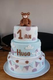 cake design gâteau d anniversaire ourson par anys pate a