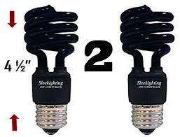 sleeklighting 13 watt spiral cfl black bug light bulb 120volt