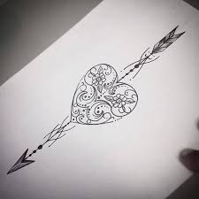New Traditional Arrow Tattoos Design On White Paper