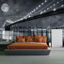 detalles acerca de brücke new york wandbild schwarz weiss foto tapete schlafzimmer dekor