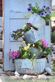 Chic Galvanized Buckets Made Of Steel For Vase Ideas