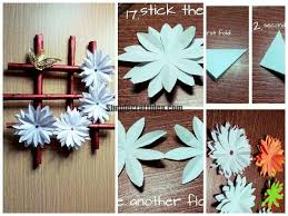 Made Wall Hanging From Paper Simple Craft Ideas With